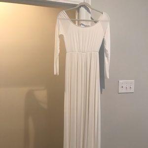 PinkBlush Ivory Off The Shoulder Maxi Dress Medium